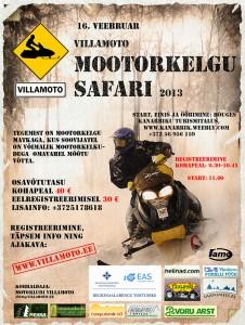 Villamoto mootorkelgu safari 2013